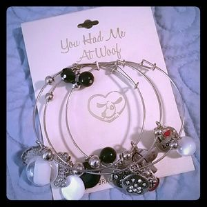 Silver Bracelet Bundle for Dog & Beach Lovers
